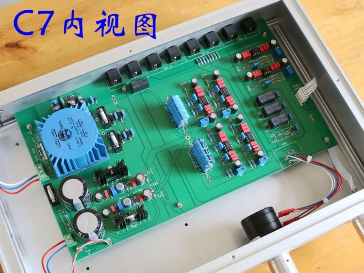 Acabado de referencia MBL circuito C7 preamplificador de alta fidelidad AD797ANZ Audio pre-amp plata
