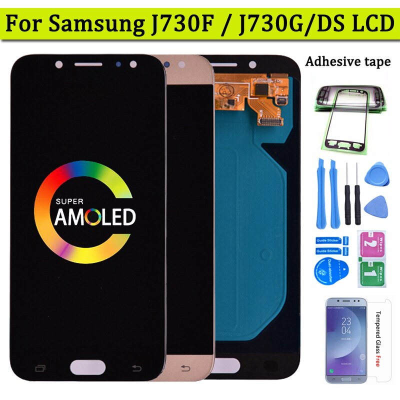Super Amoled LCD For Samsung Galaxy J7 Pro 2017 J730 J730F LCD Display and Touch Screen Digitizer As