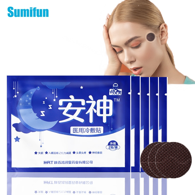 10pcs/5bags Medical Sleep Stickers Relieve Headache Plaster Anxiety Essential Oil Improve Insomnia Body Relax Pain Relief Patch недорого