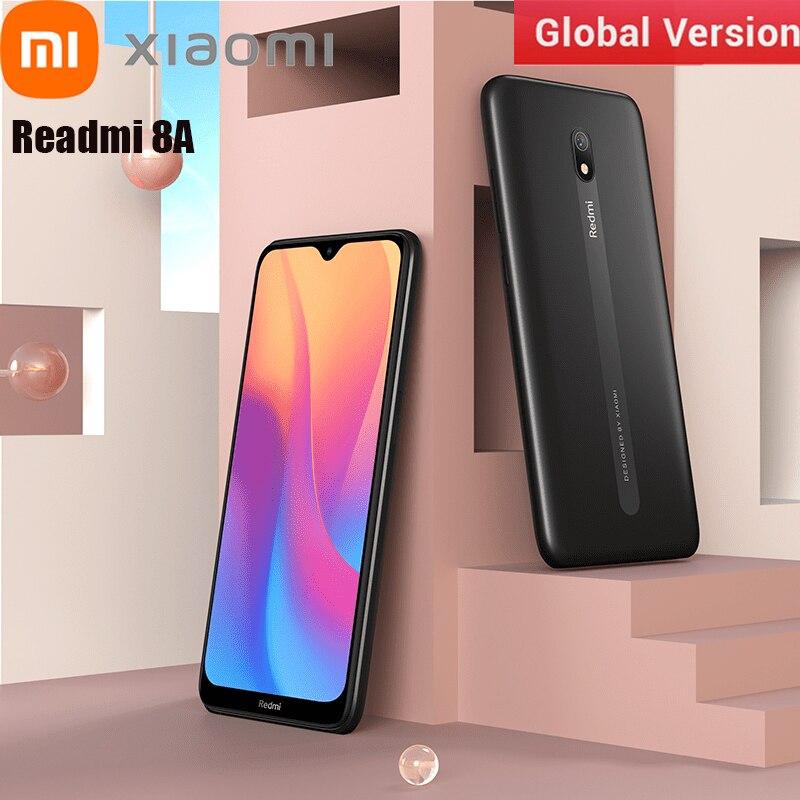 Перейти на Алиэкспресс и купить Оригинальный Xiaomi Redmi 8A смартфон 4 Гб 64 Гб 6,22 дюймов Snapdragon 439 Octa Core 5000 мАч 12MP камера с распознаванием лица двойная sim-карта, чехол для телефона