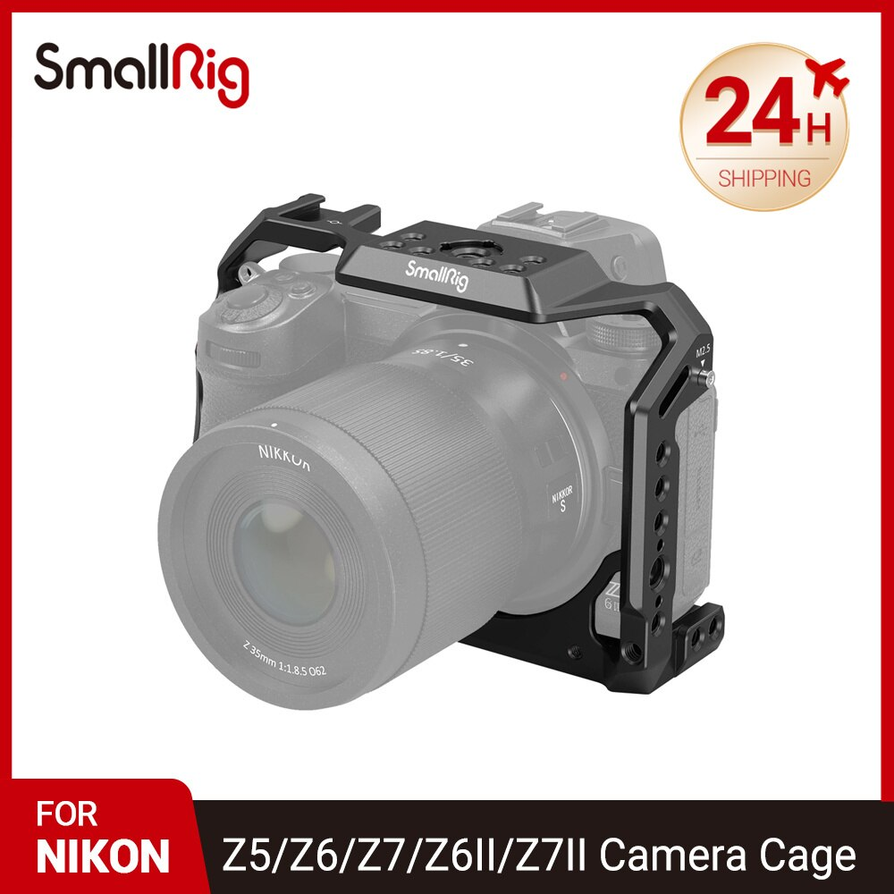 كاميرا صغيرة هيكل قفصي الشكل للكاميرا لنيكونz5/Z6/Z7/Z6II/Z7II مع حذاء بارد والناتو راي 2926