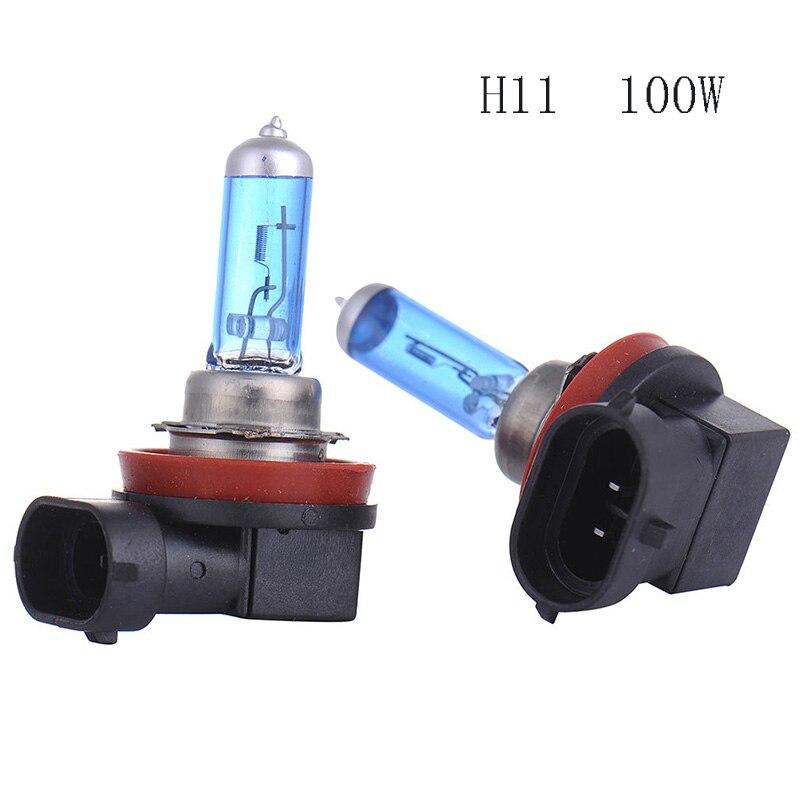 2 шт., Ксеноновые галогенные газовые автомобильные фасветильник H11 6000K 100 лм