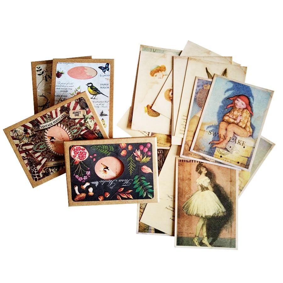 16 шт./лот, шикарные визитные открытки, поздравительные открытки для Лебединого озера, фоновые открытки, милая картина, подарок для вечеринки