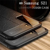 for samsung galaxy s21 case for samsung s21 capas shockproof soft silicone phone bumper tpu leather for fundas samsung s21 cover