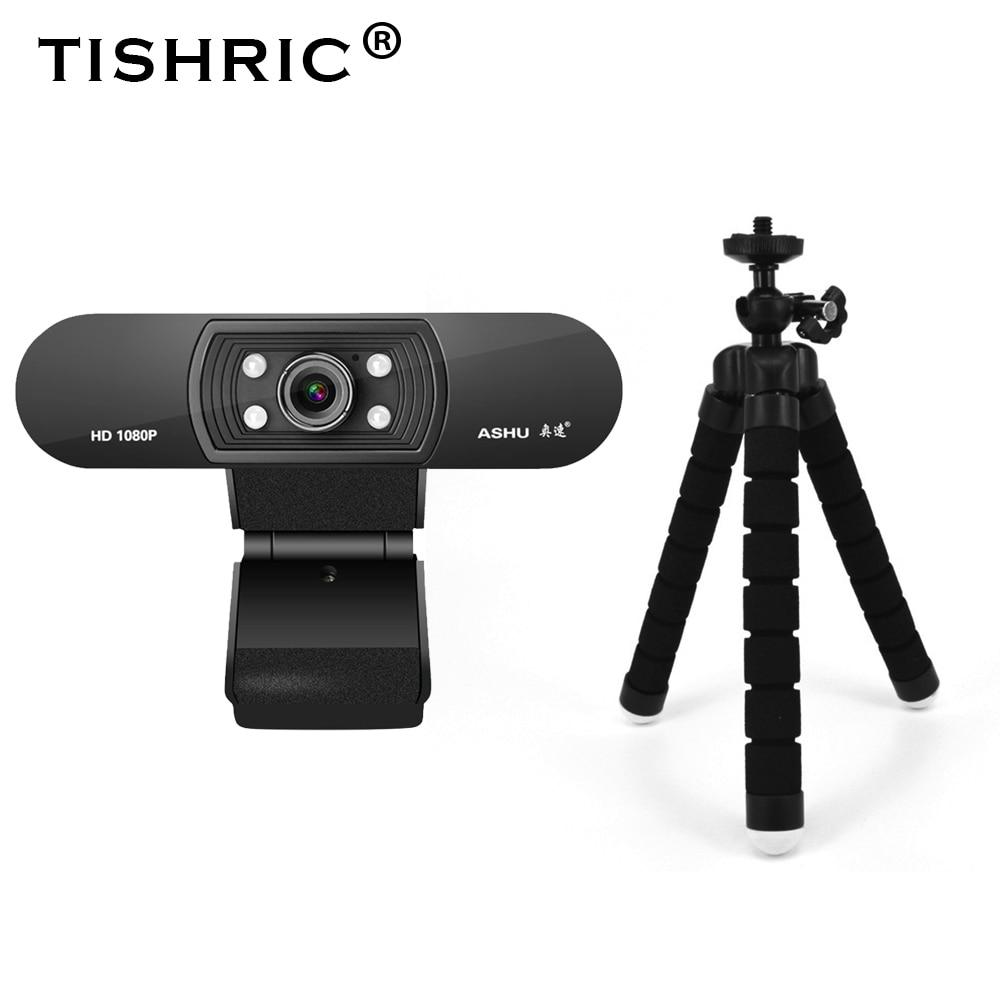 Ashu H800 كامل HD كاميرا ويب 1080p عصر كاميرا الويب مع ميكروفون USB كاميرا الكمبيوتر للرؤية الليلية كاميرا الويب كاميرا ويب الكمبيوتر
