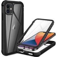 360 полноразмерная защита экрана, прозрачный чехол для iPhone 12 Pro Max Mini 11 Xs X Xr 6 6S 7 8 Plus SE2, противоударный чехол для телефона