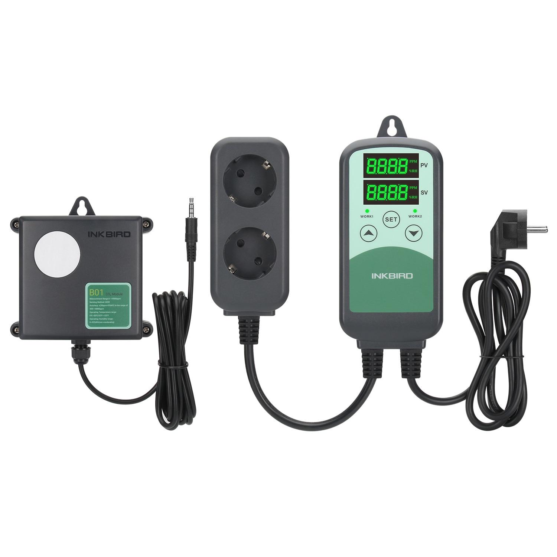 ICC-500T B01 Plug-n-Play CO2 متحكم في درجة الحرارة للبرمجة رصد للزراعة والصناعات الحيوانية والدفيئات الزراعية