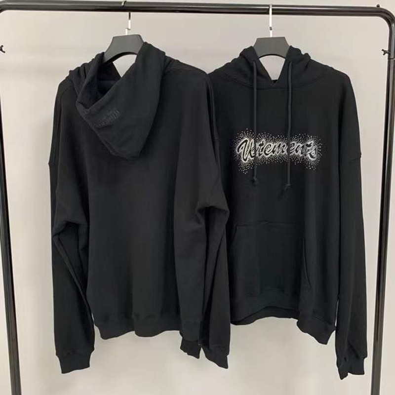 2021SS فيتيمنتس تصميم حجر الراين هوديس Y2k المتضخم هوديي الرجال هوديس المرأة البلوز المرأة الملابس 2021