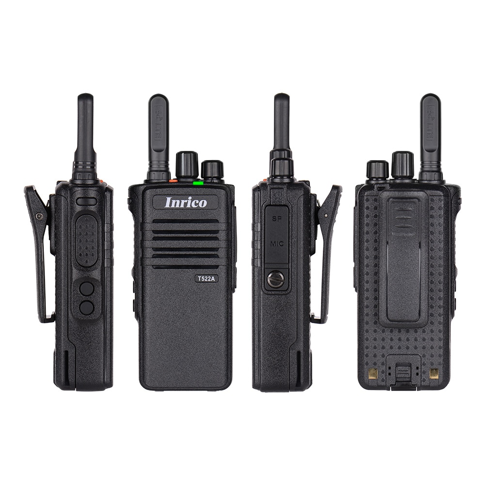 Inrico T522A 4G Android Walkie Talkie app Radio poc interkom SOS GPS Bluetooth Wifi comelit intercom