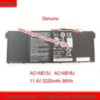 Genuine AC14B13J AC14B18J Battery for ACER Aspire ES1-512 Es1 Es 15 MS2394 B116-M ES1-571 ES1-111 ES1-131 AC14B18K 11.4V 36Wh