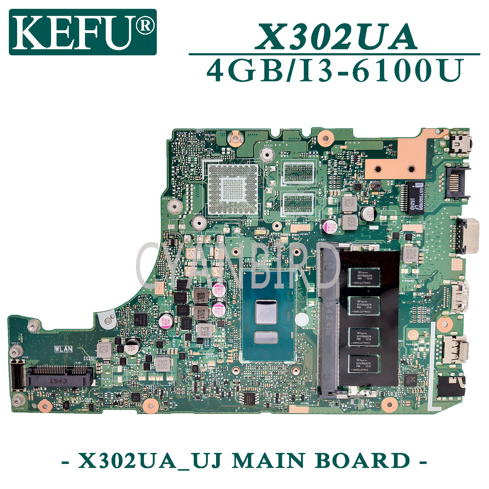 KEFU X302UA_UJ اللوحة الأصلية ل ASUS X302UA X302UV X302UJ مع 4GB-RAM I3-6100U اللوحة المحمول