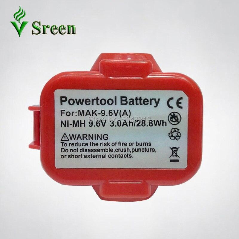 Ni-MH 9,6 mAh 3000 V para Makita reemplazo recargable batería de herramientas eléctricas paquetes 9122 de 9120 de 9100 9100A 9101
