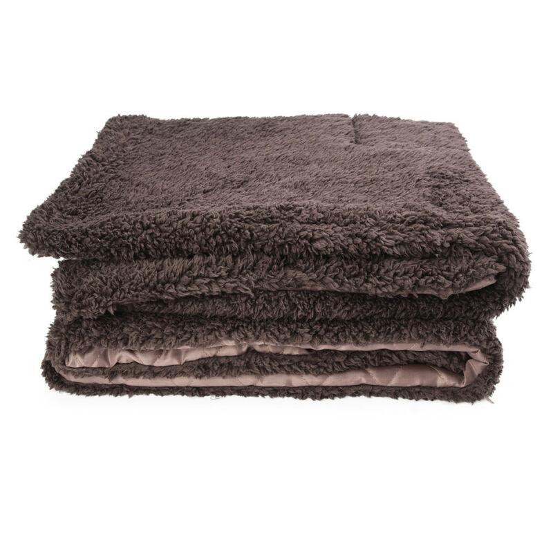 Caliente impermeable suave cobija polar para mascota gato grande perro cama perrera...
