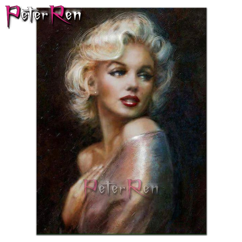 Full Diamond Embroidery Marilyn Monroe DIY 5D Diamond Painting portrait Cross Stitch Home Decor Picture Of Rhinestone Handmade