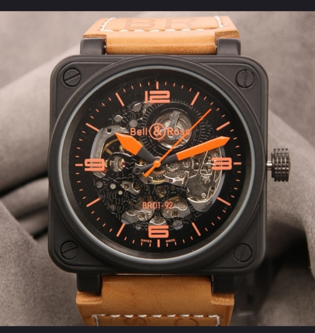 Men's luxury AAA Automatic machinery watch fashion bell to luxury BR rubber sports Chronograph ross