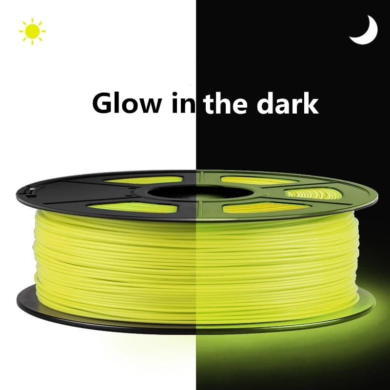 خيوط مضيئة للطباعة ثلاثية الأبعاد PLA ، طابعة مضيئة ، 1.75 مللي متر ، 1 كجم ، متوهجة في الظلام ، أخضر ، أزرق ، أصفر ، أحمر ، أفضل فلورسنت