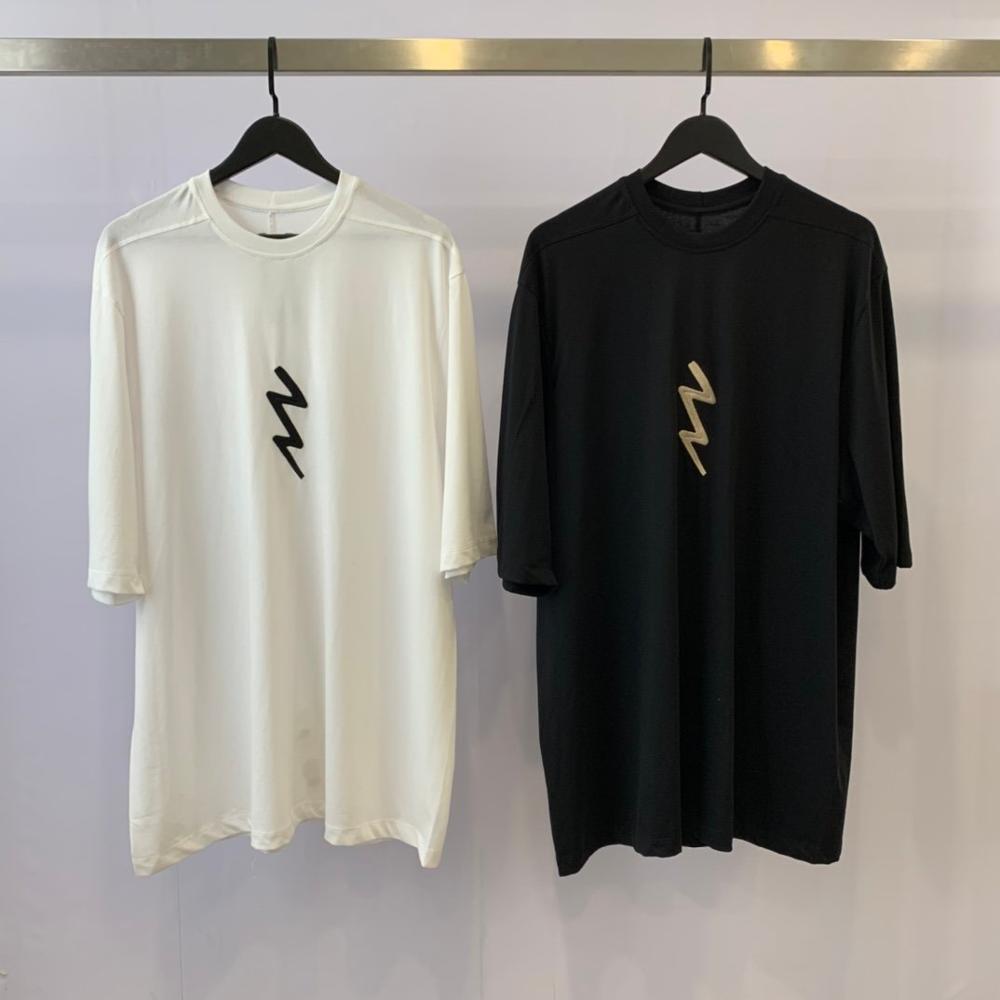 20ss camiseta de hombre de Wen seak 100% algodón estilo gótico para hombres ropa de gran tamaño camisetas de verano para mujer camiseta blanca negra