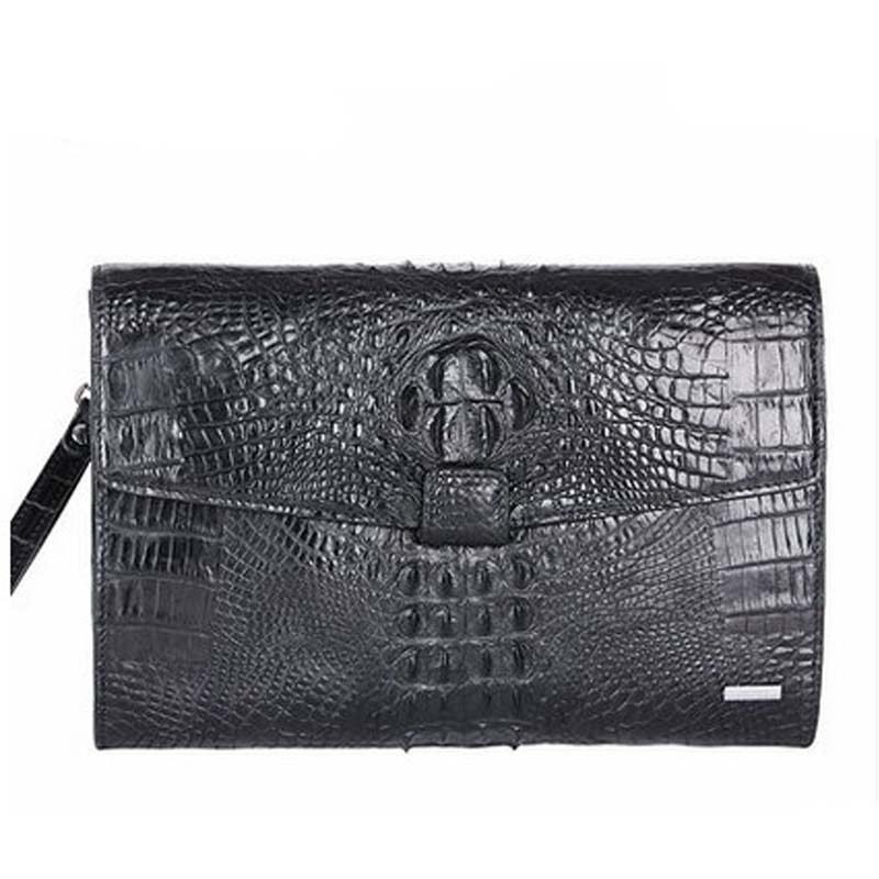 kafandi new crocodile skin man clutch bag men bag male crocodile eather  men crocodile bag