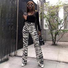 2020 femmes zèbre pantalon mode Femme rayé imprimé pantalon dames vêtements de rue pantalons de survêtement Legging Hosen Goth Hippie sarouel