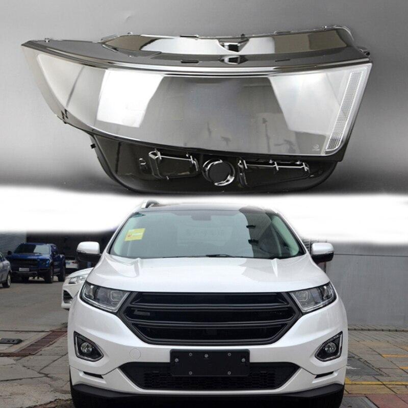 Para Ford Edge 2015-2018 lente faro carcasa clara faros lente vivienda faro cubierta protectora pantalla lente shell