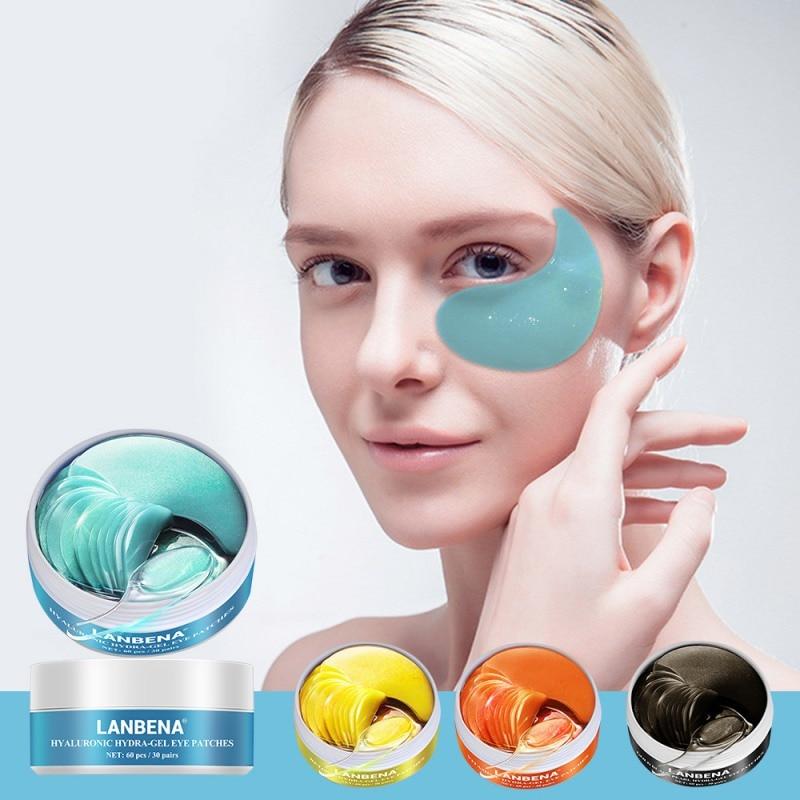 Recomendar anti envelhecimento máscara de olho colágeno olho remendo ácido hialurônico gel hidratante retinol remover círculos escuros saco de olho