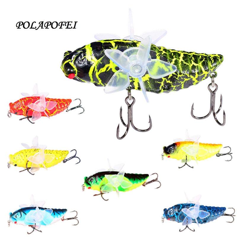 Topwater, insecto de Pesca, señuelo, Pesca de arrastre, cebo Wobbler 7cm 16g, cebo Artificial de pececillo Kosadaka, accesorios para Pesca D25