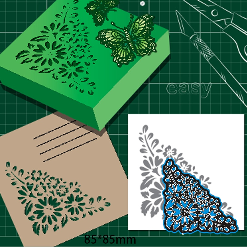 Cutting Dies Hollow Lace DIY Scrap Booking Photo Album Embossing Paper Cards 85*85mm
