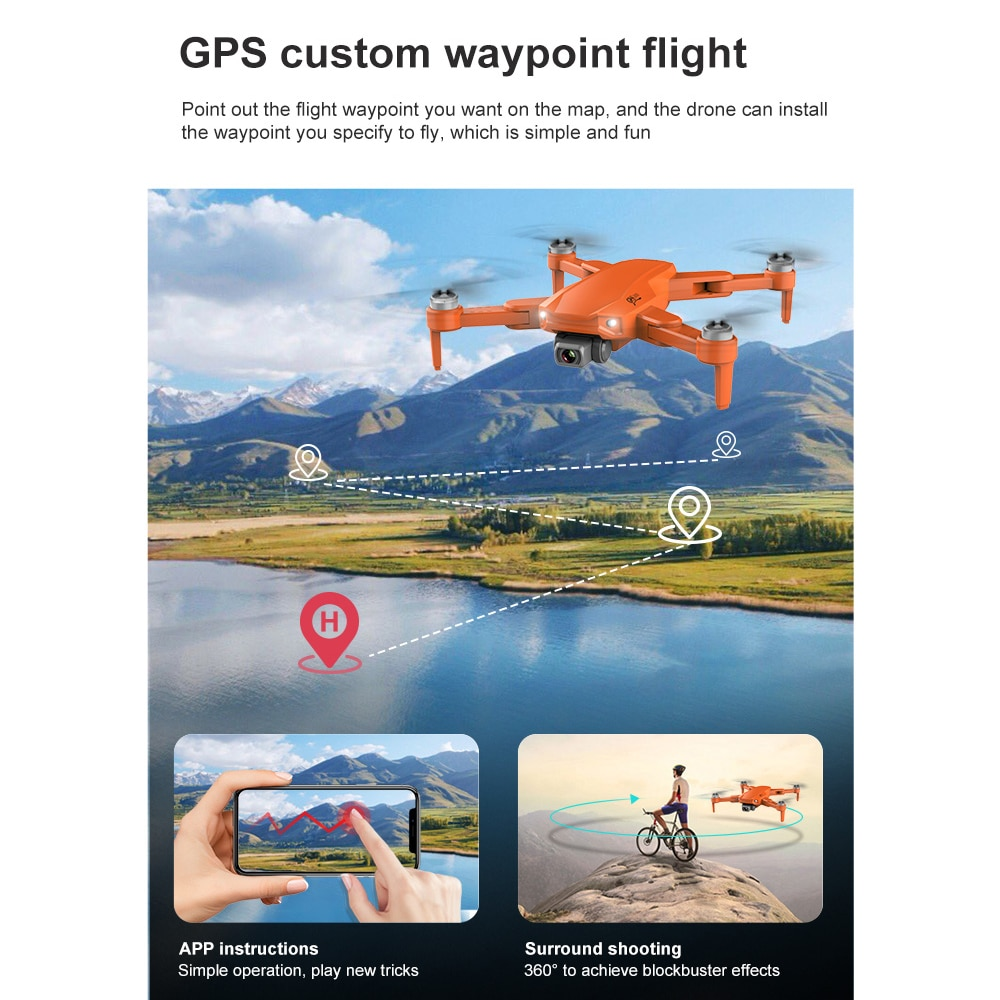 RC DRON S608pro GPS Drone 6K Dual Camera Professional 3km Long Distance Aerial Photography Brushless Foldable Quadcopter PK L900 enlarge