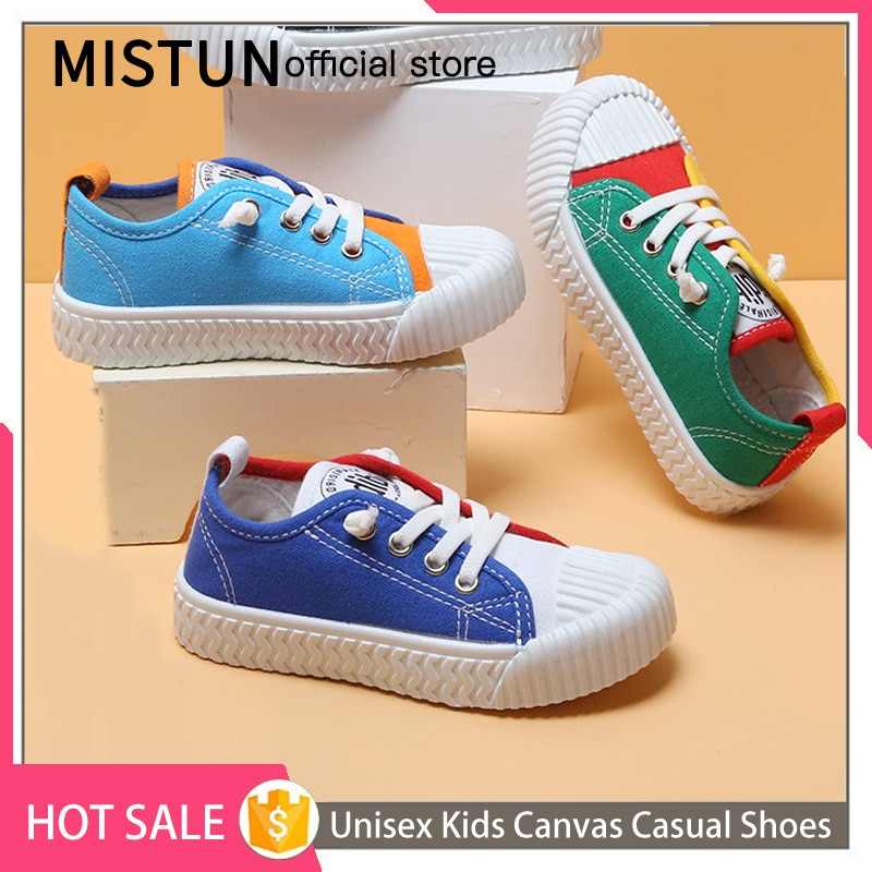 Unisex Kids Toddler Canvas Shoes Fall 2021 New Fashion Girls' Sports Shoes Breathable Low Top Color Matching Boys Casual Shoes