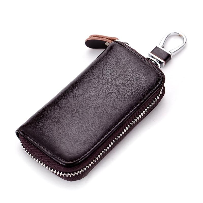 Cow Split Leather Men Women Key Holder House Keychain Bag Organizer Car Key Case Pouch Multifunction