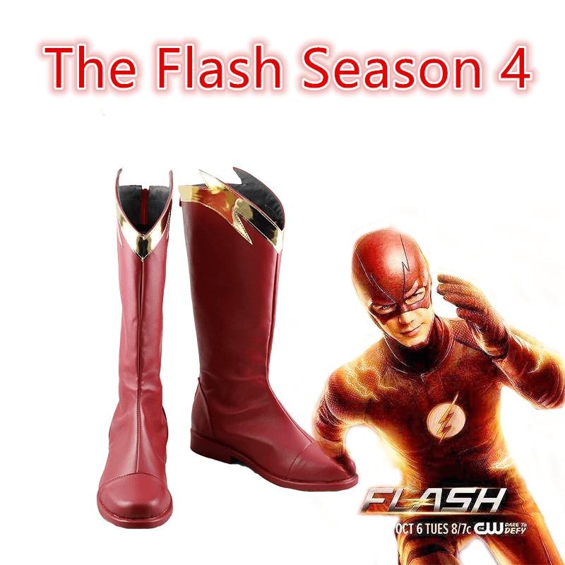 Película The Flash temporada 4 Barry Allen Flash shoes Cosplay disfraces personalizados Halloween hombres y mujeres dibujos animados juego animación zapatos