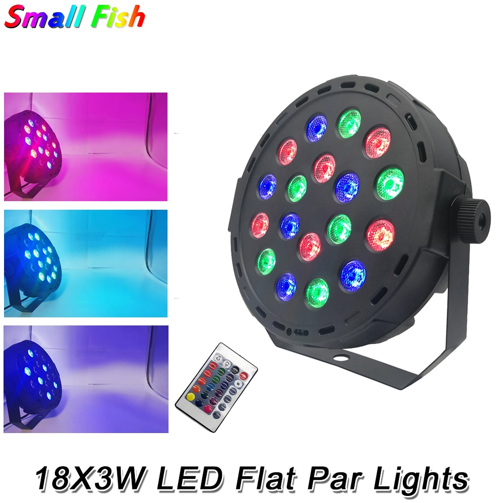 led disco light 18w dmx 512 dj rgb led party lights sound actived remote control disco lamp color changing stage lamp wedding 18X3W Professional LED Stage Light RGB 3IN1 Par Lamp DMX 512 Control Lighting Wash Effects For DJ Disco Wedding Party Show Light