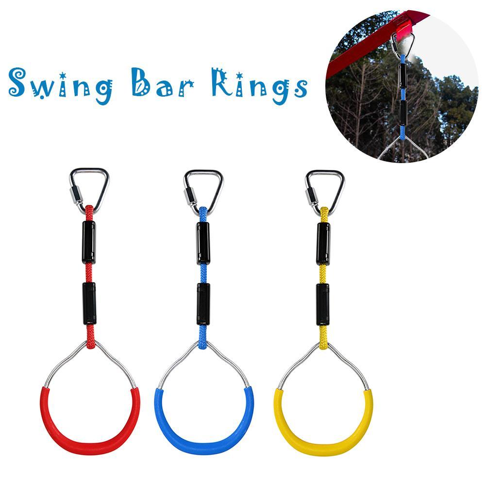 3 teile/paket Bunte Handwerk Schaukel Bar Ringe Hinterhof Außen Gymnastic Ninja Ring, Affe Klettern Hindernis Ring Ninja Hindernis Kit