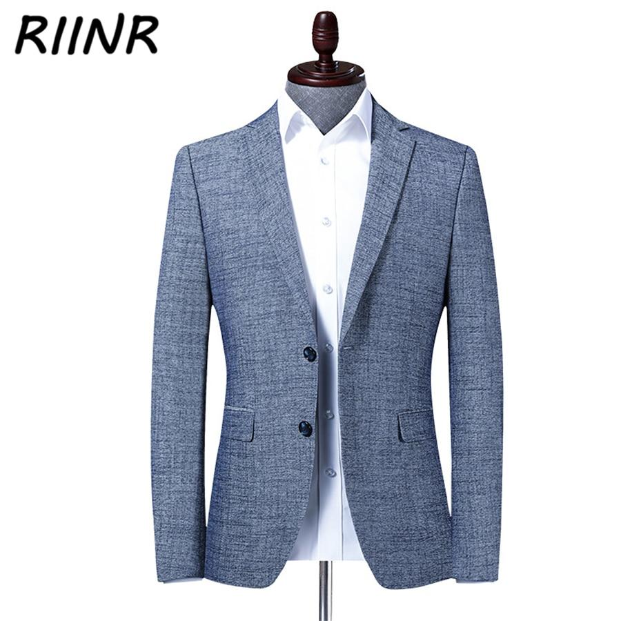 Riinr 2020 Spring Autumn New Men's Suit Business Casual Clothing High Quality  Fashion Slim Suit Men Blazer Jacket Male M-4XL