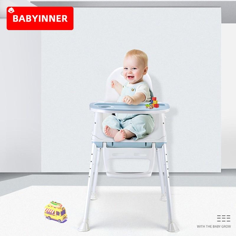 Babyinner многофункциональное детское обеденное кресло, складное портативное детское кресло, сидение для еды более 6 месяцев, регулируемый высо...