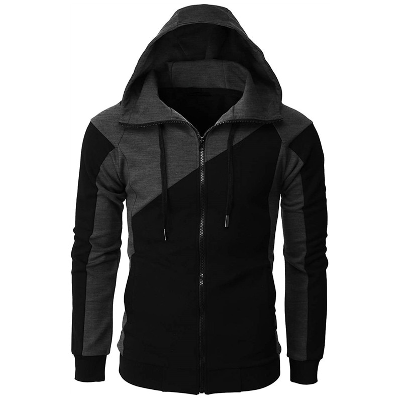 Куртка мужская с капюшоном, повседневный свитшот на молнии в стиле хип-хоп, спортивный костюм, модная утепленная толстовка, верхняя одежда