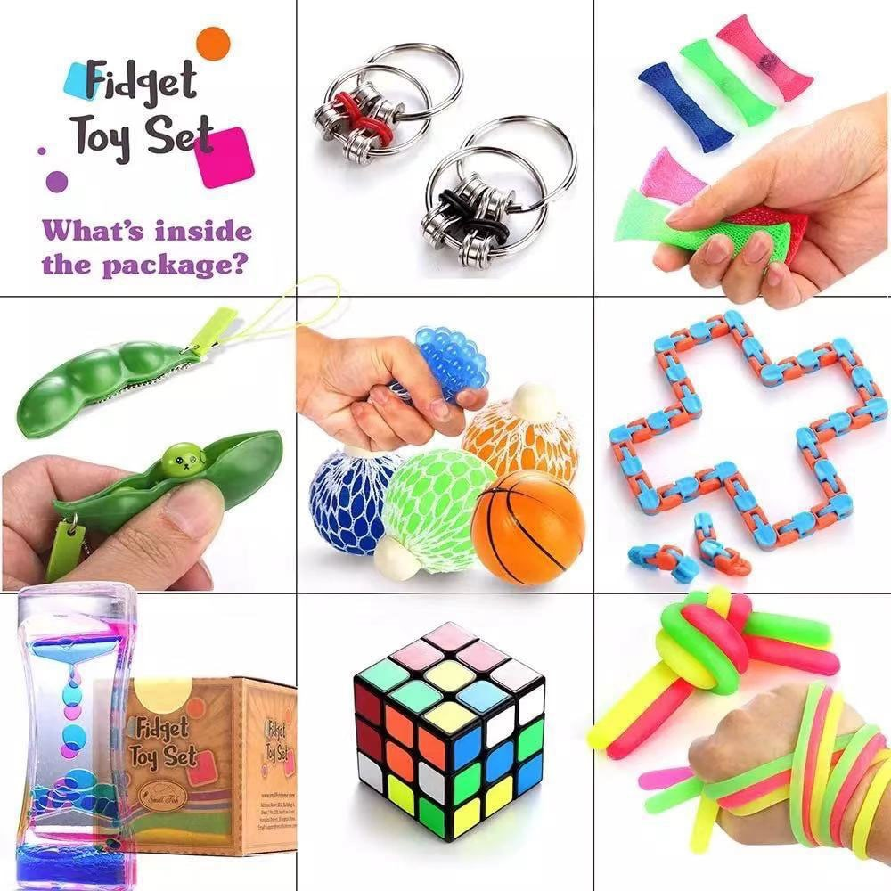 Fidget Toys Set Relief Stress Toys Autism Anxiety Relief Stress Education Toys Fidget Sensory Decompression Toy for Kids Adults enlarge