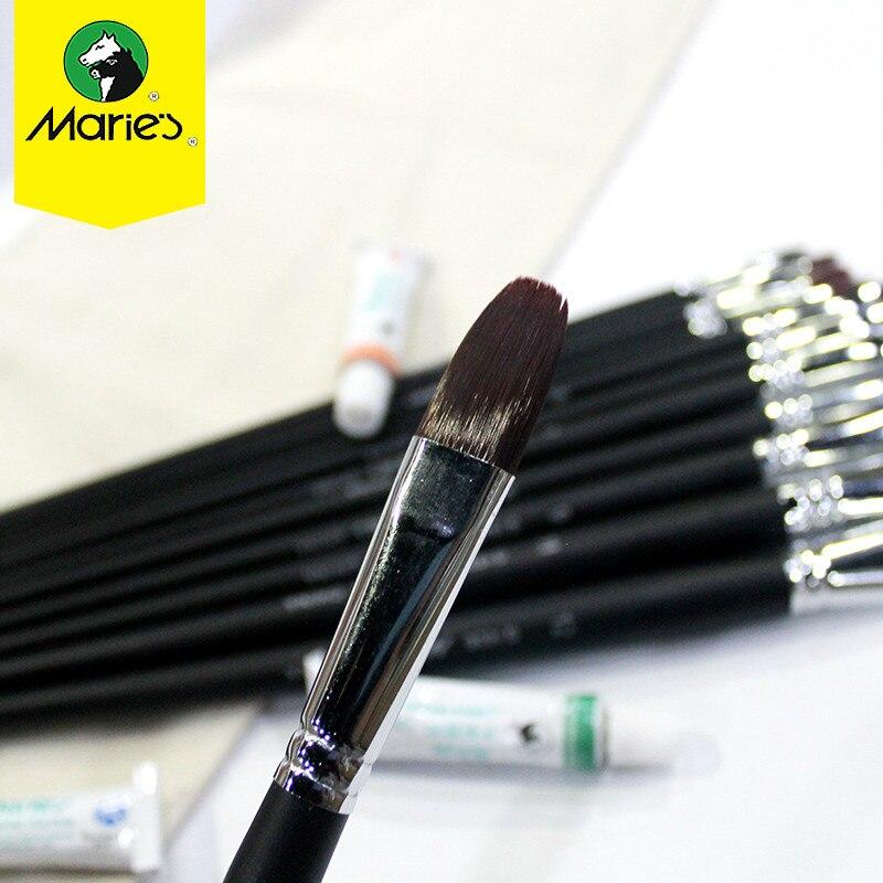 Maries Paint Brush Art Brushes Pinceles Para Acrilico Y Oleo Watercolor Paint Brushes Arte Nylon Hair Painting Brush Set