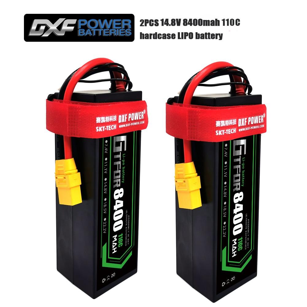Bateria de gtfdr rc lipo 14.8 v 8400 mah 4S rc bateria lipo 110c com plugue de deans para 1/8 1/10 carro fora de estrada rc caminhão truggy buggy