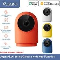 Aqara     camera intelligente G2H  avec fonction Hub  Zigbee 3 0 1080P HD  Version nuit IR  detection AI  fonctionne avec Apple HomeKit pour la securite de la maison intelligente