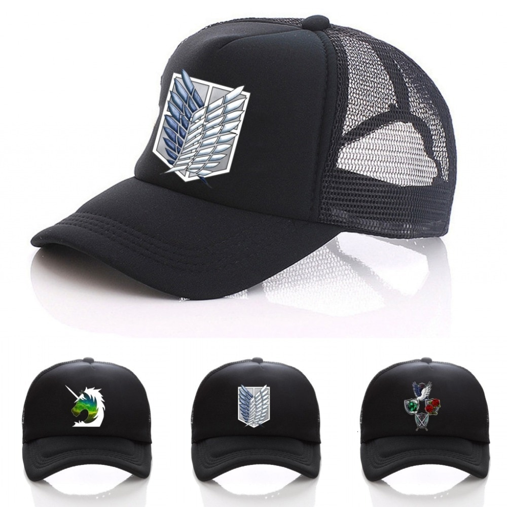 Аниме атака на Титанов реги мужчин t Скаут Легион символ черная сетка бейсболка для дальнобойщика Snapback шляпа для мужчин женщин мужчин