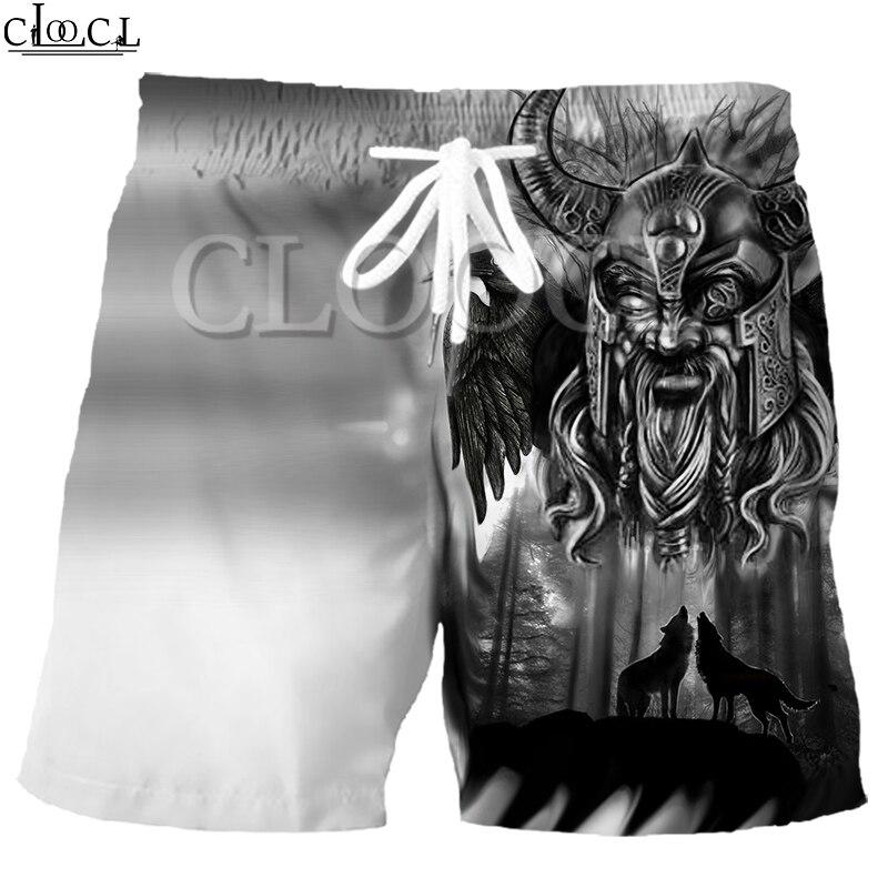 CLOOCL Viking Tattoo Pirate 2021  Summer Fashion Mens Shorts 3D Print Elastic Hip Hop Casual Harajuku Beach