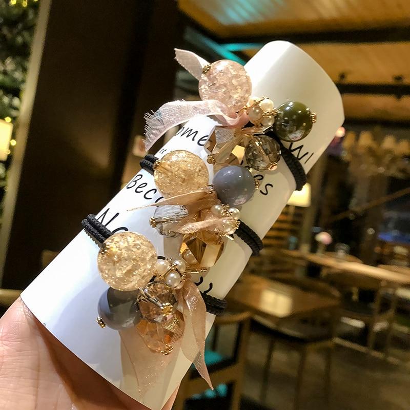 Women's Hair Rope 2019 New Japanese and Korean Style Internet Celebrity Ins Hair Rope Cute Hair Rubb