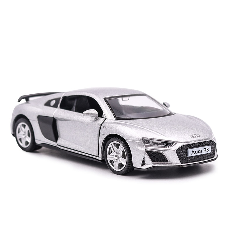 Audi R8 1/36 Metal Vehicle Diecast Pull Back Cars Model Toys for Boy Collection Xmas Gift Office Home Decoration