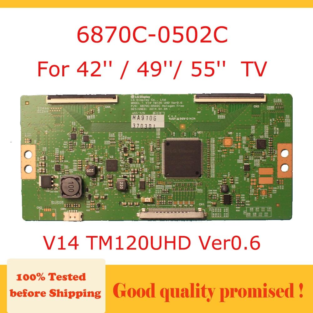 Tablero Tcon 6870C-0502C V14 TM120UHD Ver0.6 lg tarjeta de tv para 42 49 55 tablero de prueba profesional de tv 6870C 0502C V14TM120UHD