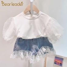 Bear Leader Girls Clothing Set 2020 Summer Kid Clothes Set Cherry Pattern Girls Suit Toddler Girl Tops+Shorts Children Set