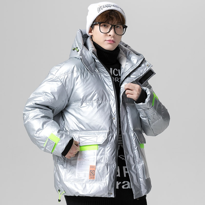 2021 New Arrival Fashion Hooded Clothes Zipper Popular Parka Men Male Money Down Jacket Winter Youth Thickened Warm Leisure