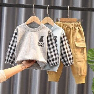 Boys clothing sets spring autumn kids fashion cotton tops pants 2pcs tracksuits baby boy children sports suits toddler outfits 4