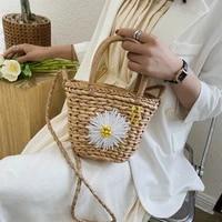 2020 summer fashion straw rattan hand weave females shoulder bags tote fashion printed crossbofy bag bohemia beach women handbag