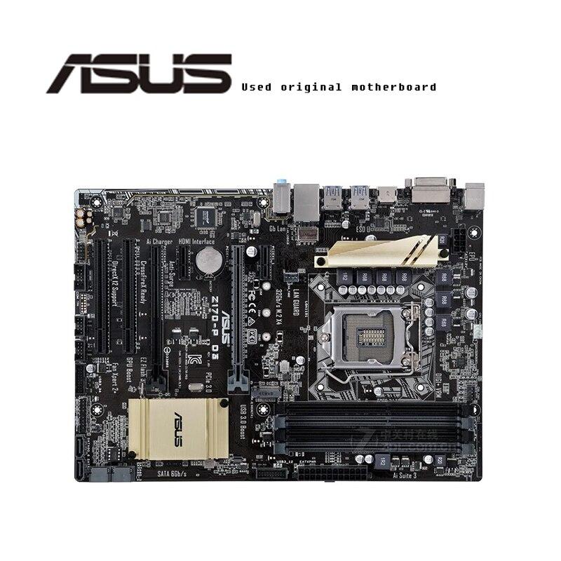 Para ASUS Z170-P D3 original placa madre hembra LGA1151 DDR3 Z170 placa base de escritorio